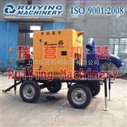 黑龍江300流量防汛排澇移動柴油機自吸泵車