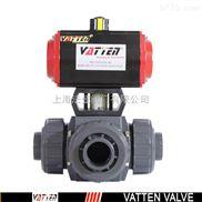 气动三通UPVC球阀,进口塑料球阀进口三通UPVC球阀,