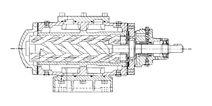 snh三螺杆泵的结构图