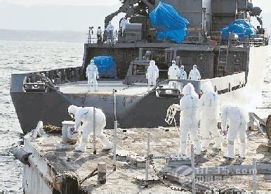 作业范围在福岛核电站附近的渔民日前同意让未经污染